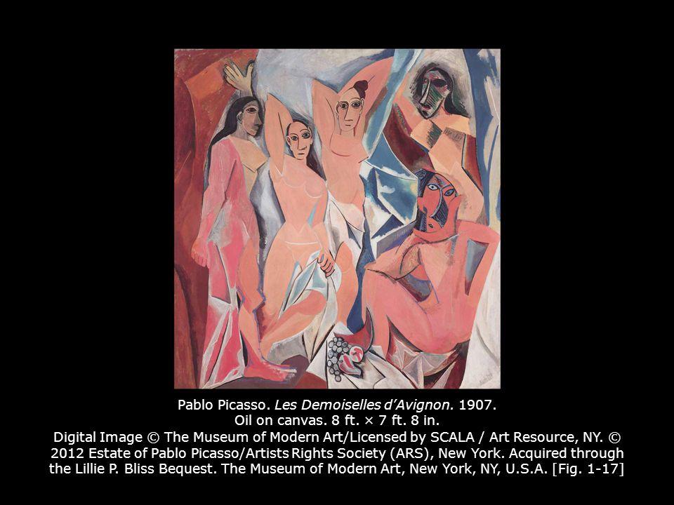 Pablo Picasso.Les Demoiselles d'Avignon. 1907. Oil on canvas.