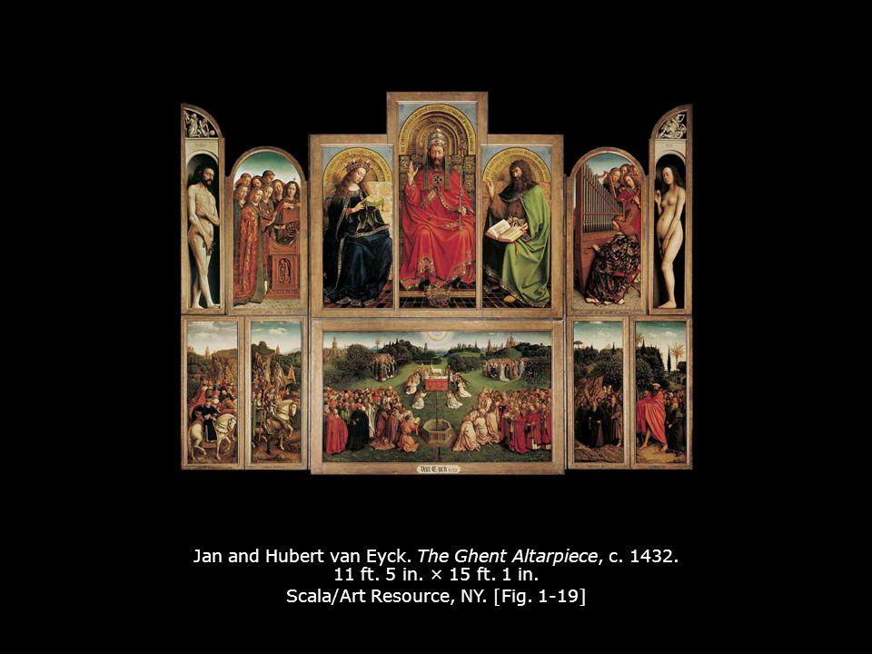 Jan and Hubert van Eyck.The Ghent Altarpiece, c. 1432.
