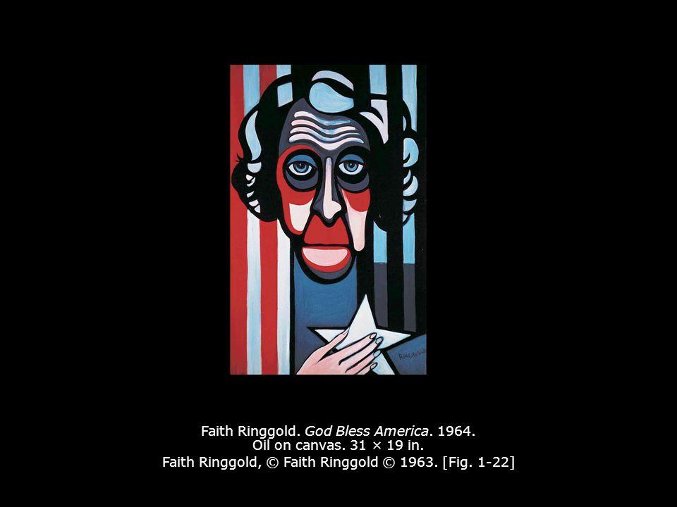 Faith Ringgold.God Bless America. 1964. Oil on canvas.