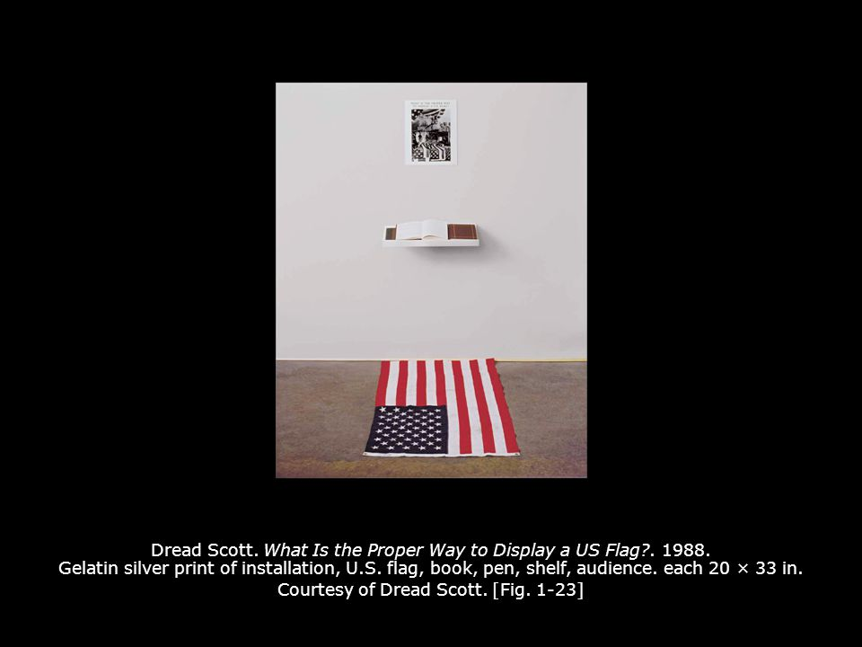 Dread Scott.What Is the Proper Way to Display a US Flag?.