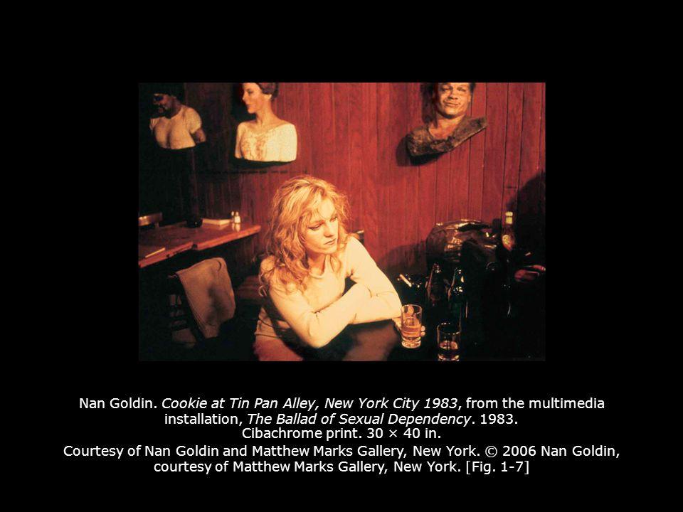 Nan Goldin.
