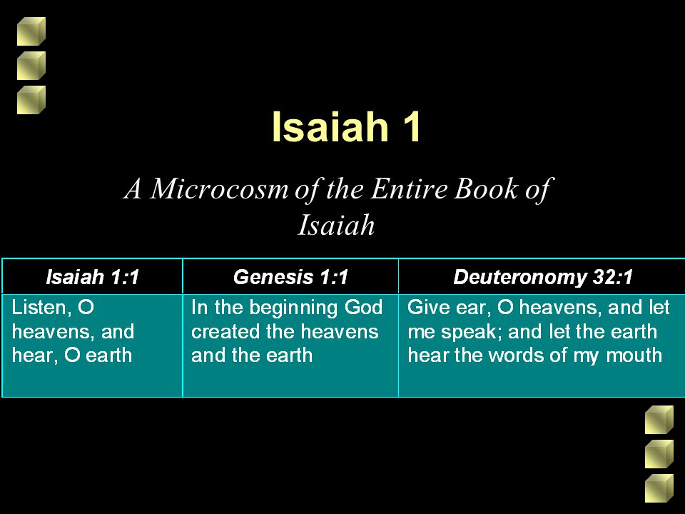 Isaiah 1 A Microcosm of the Entire Book of Isaiah