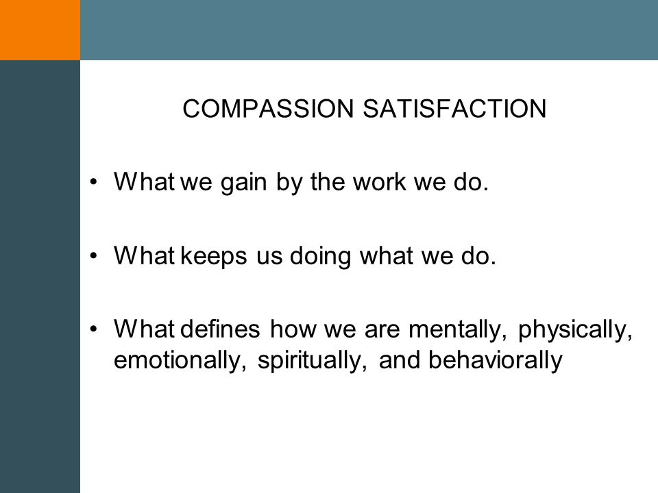 10 th World Congress on Stress, Trauma & Coping COMPASSION STRESS The cost of providing compassionate care.