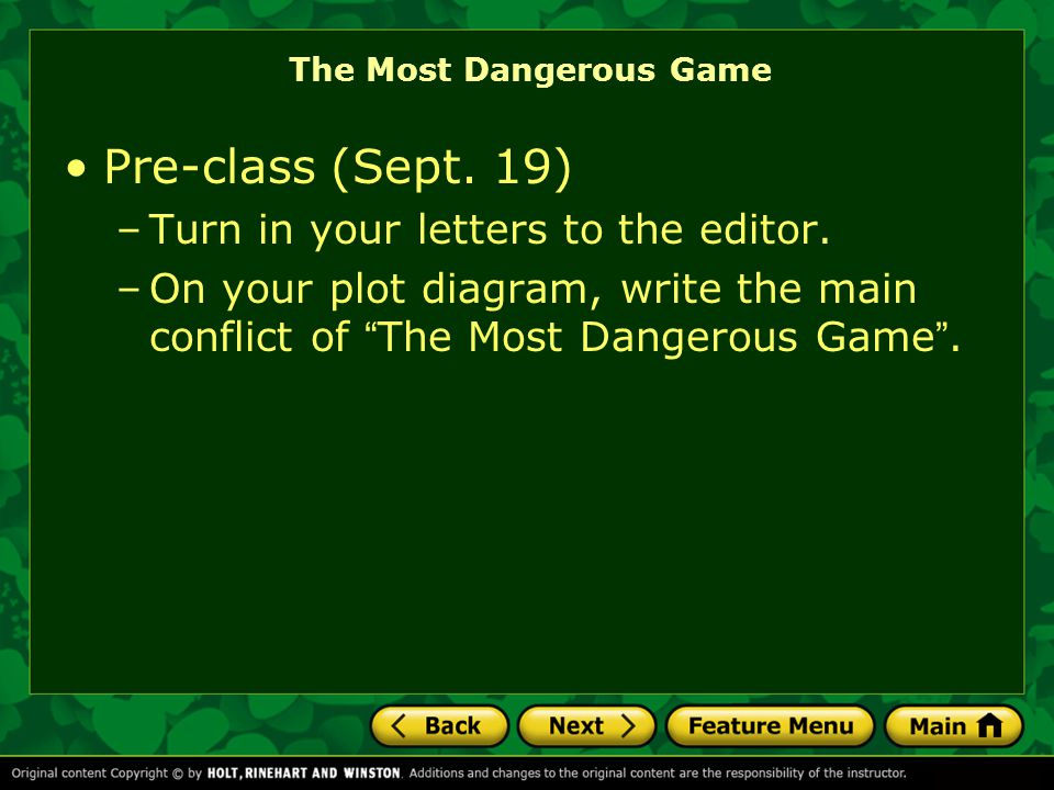 The Most Dangerous Game Vocabulary receding v.used as adj.: moving into the distance.