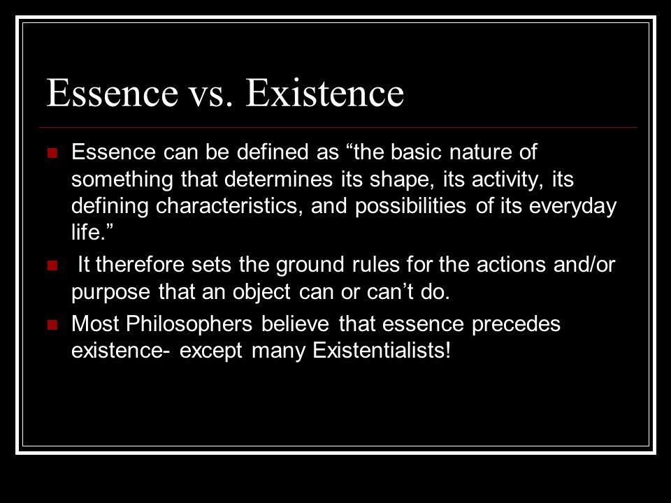 Essence vs.