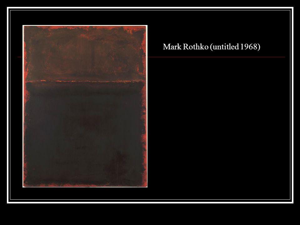 Mark Rothko (untitled 1968)