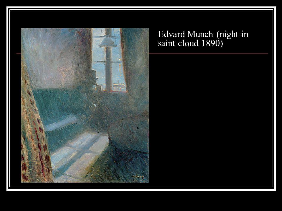Edvard Munch (night in saint cloud 1890)