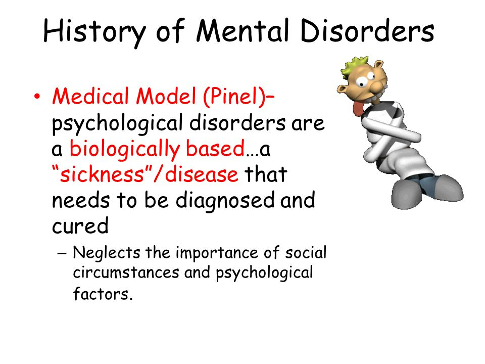 Somatoform Disorders Somatoform Disorders - psychological problem that presents itself through physical symptoms – Examples Conversion Disorder Hypochondrias – Cause: socio-cultural Cultural expectations about what symptoms/diseases are socially acceptable More common in Freud's day China – depression not acceptable = more somatoform disorders