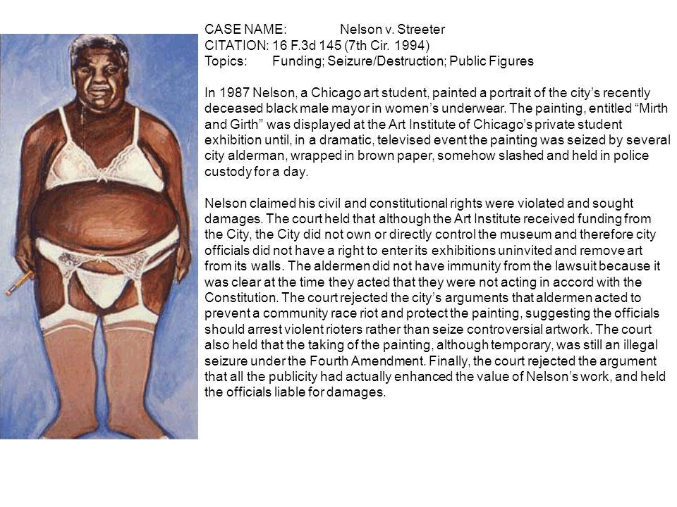 CASE NAME: Nelson v. Streeter CITATION: 16 F.3d 145 (7th Cir.