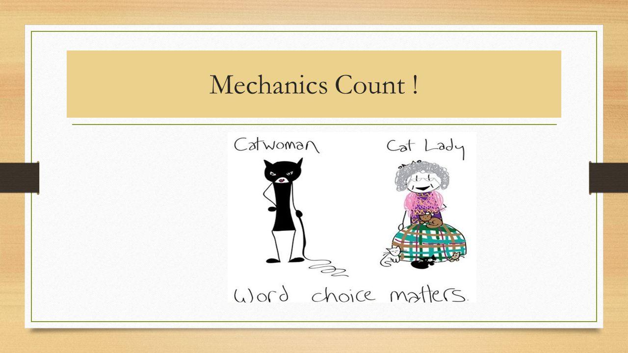 Mechanics Count !
