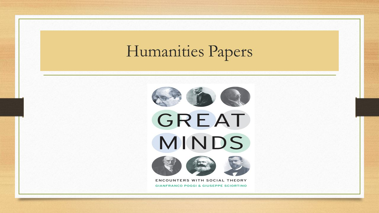 Humanities Papers