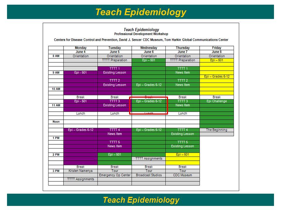 104 Teach Epidemiology