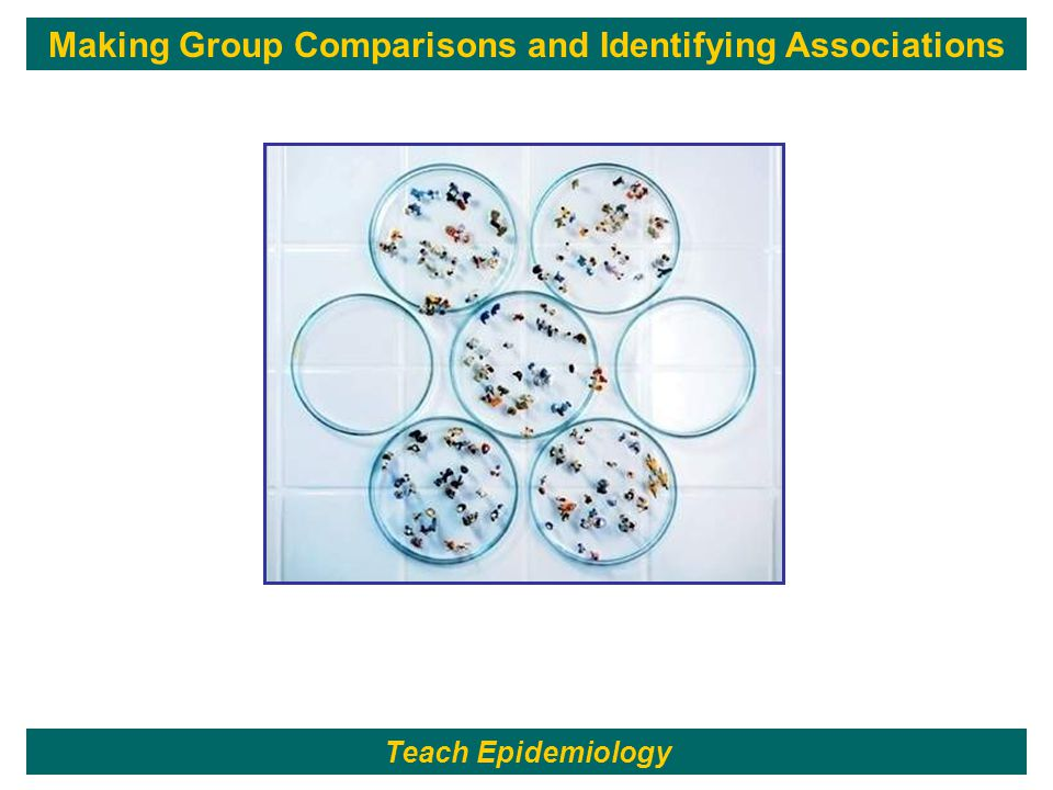 139 Making Group Comparisons and Identifying Associations Teach Epidemiology