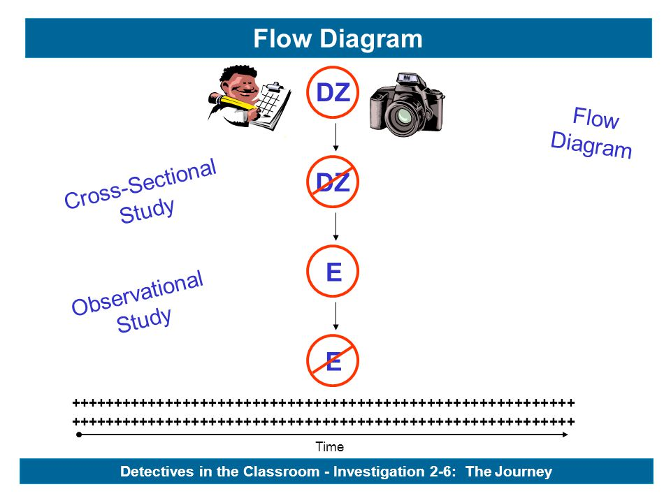 Cross-Sectional Study Observational Study Flow Diagram Flow Diagram Time ++++++++++++++++++++++++++++++++++++++++++++++++++++++++++ E E - DZ Detectives in the Classroom - Investigation 2-6: The Journey