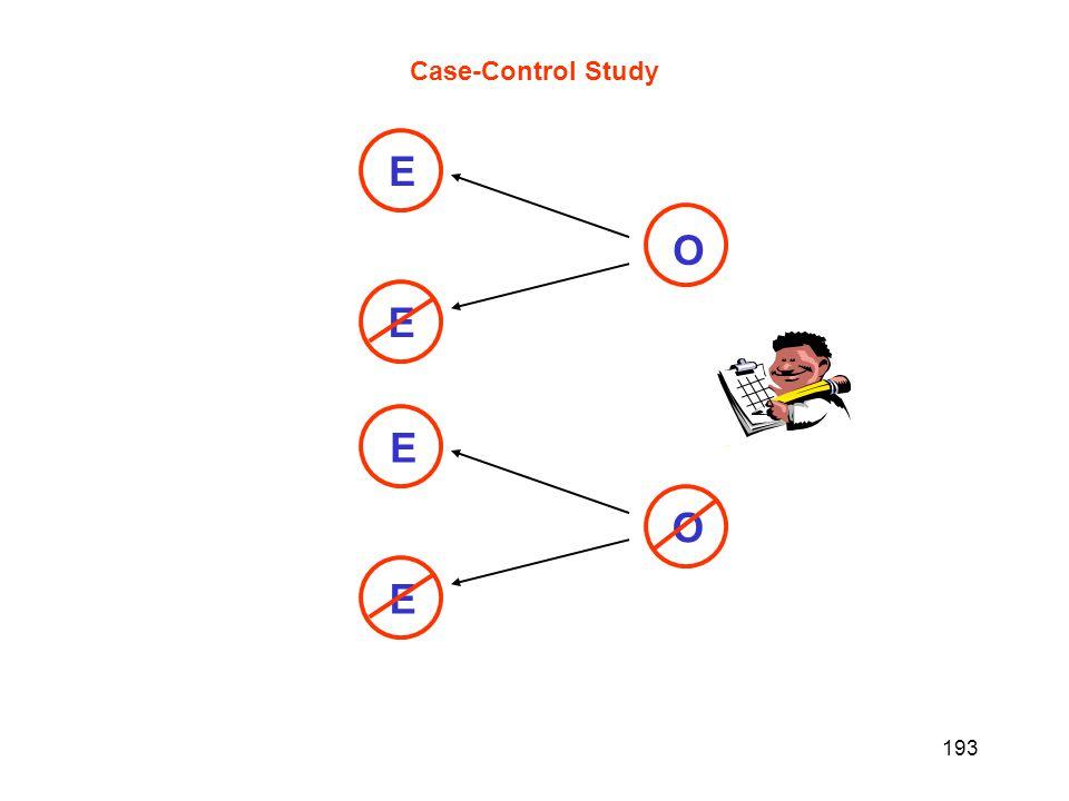 193 Case-Control Study O - O E E E E