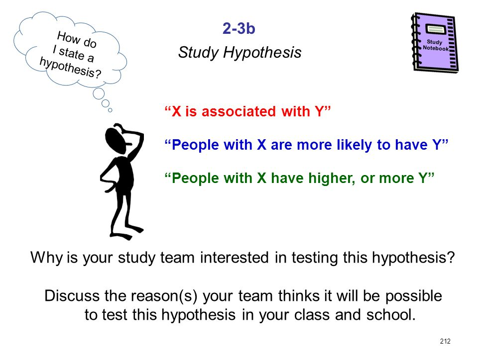 212 2-3b Notebook Study Study Hypothesis Why is your study team interested in testing this hypothesis.