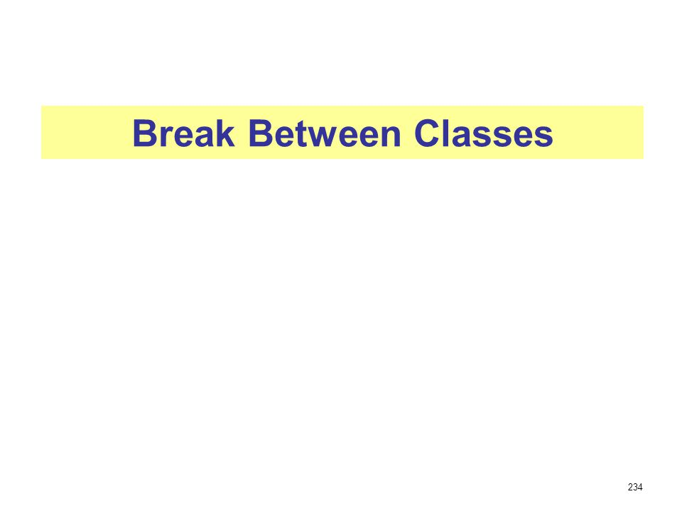 Break Between Classes 234