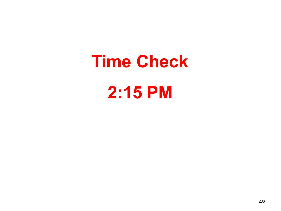 238 Time Check 2:15 PM