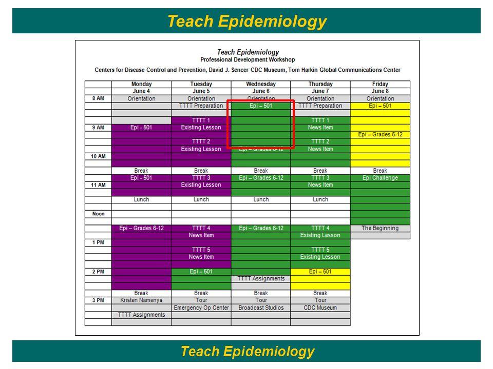 6 Teach Epidemiology