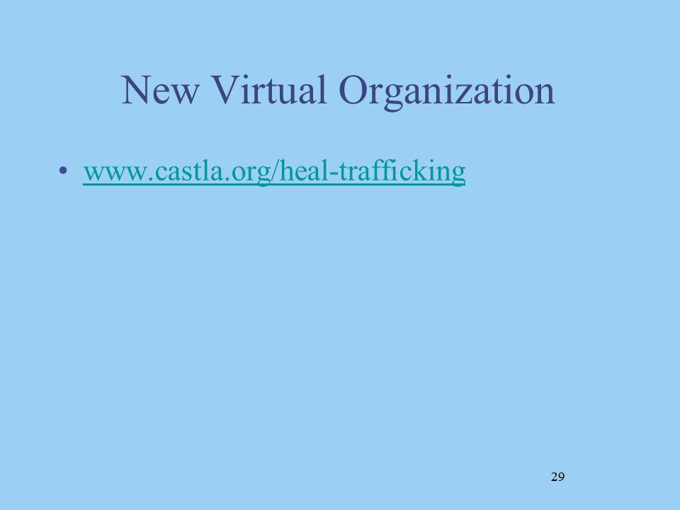 29 New Virtual Organization www.castla.org/heal-trafficking 29
