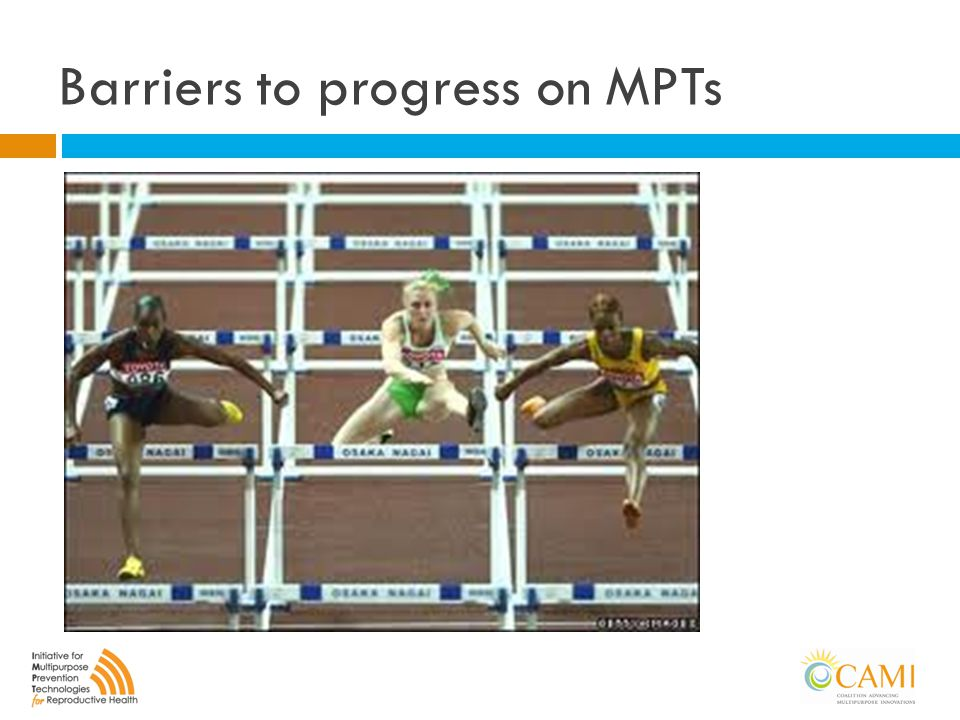 Barriers to progress on MPTs