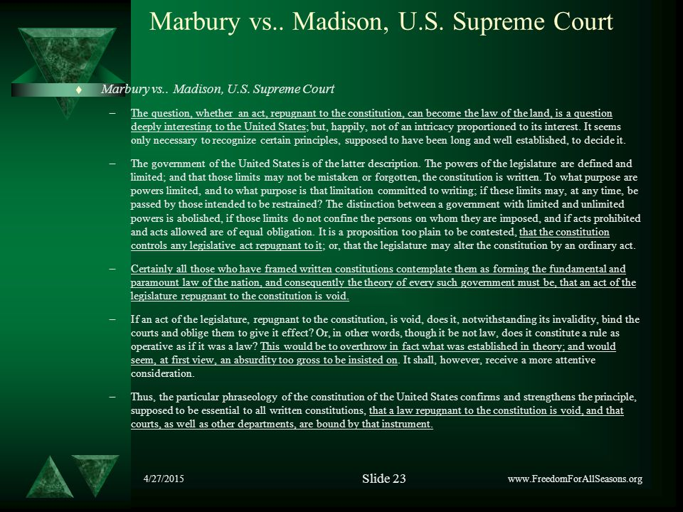 4/27/2015 Marbury vs.. Madison, U.S. Supreme Court  Marbury vs..