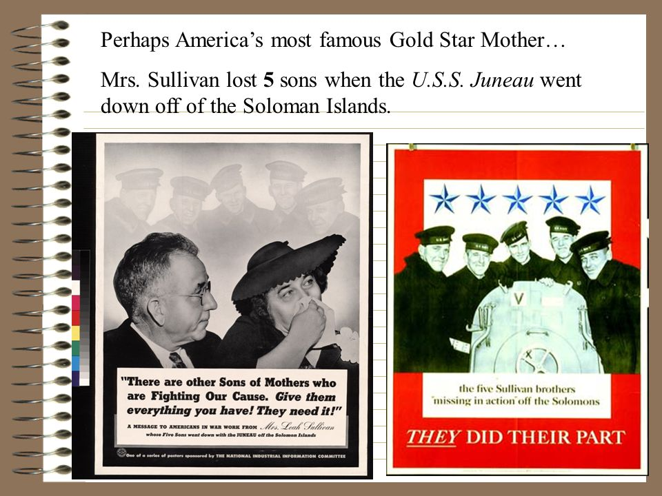 Perhaps America's most famous Gold Star Mother… Mrs.
