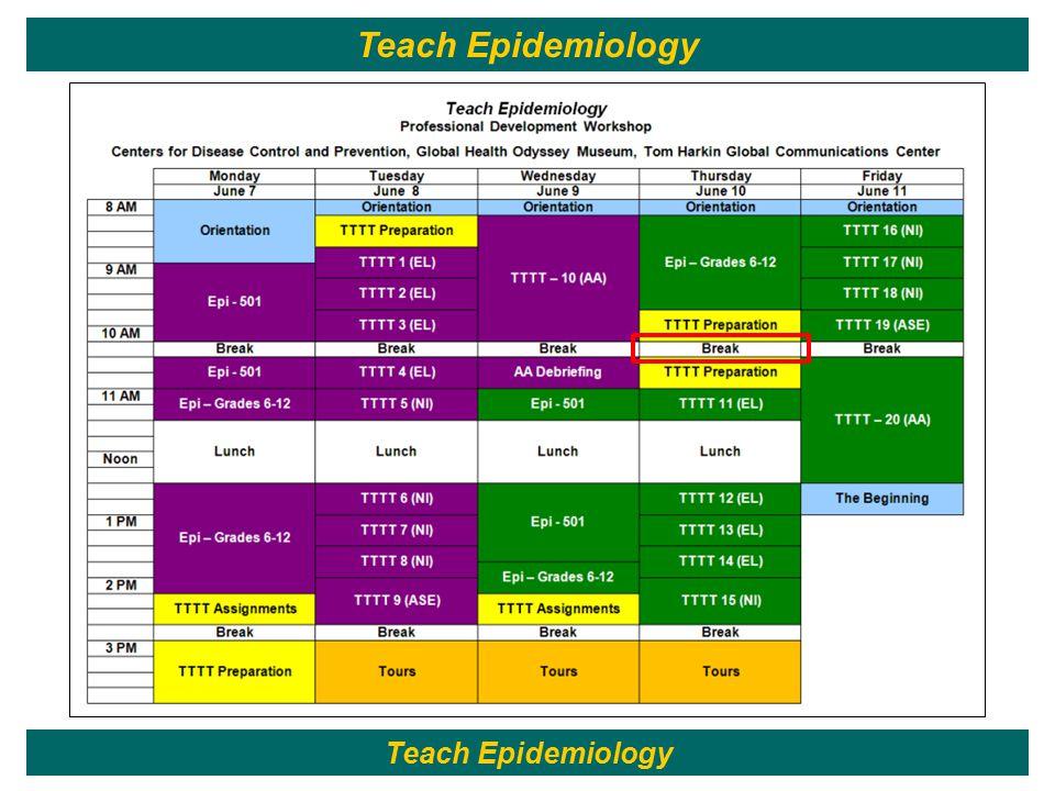 168 Teach Epidemiology