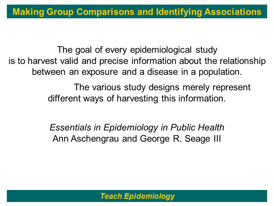 The goal of every epidemiological study is to harvest valid and precise information about the relationship between an exposure and a disease in a population.