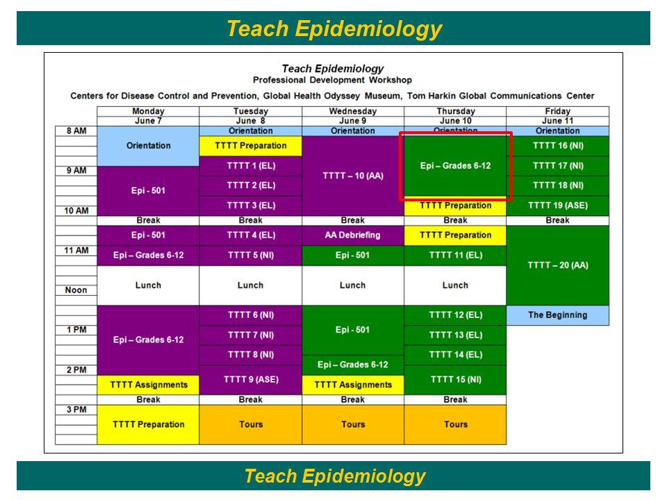27 Teach Epidemiology