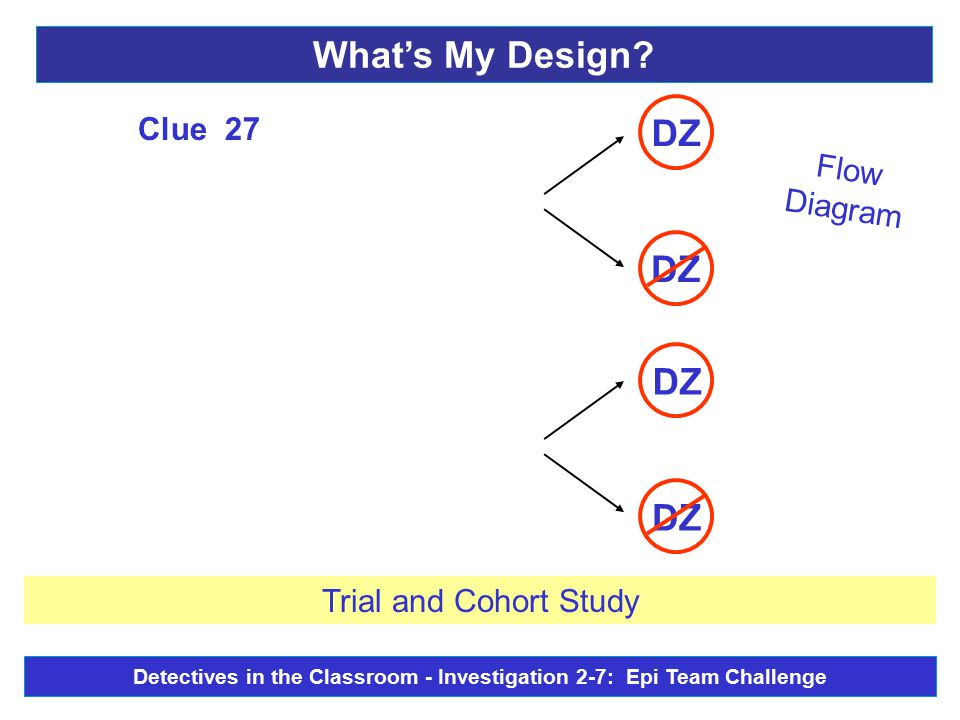 Flow Diagram DZ Clue 27 Trial and Cohort Study What's My Design.