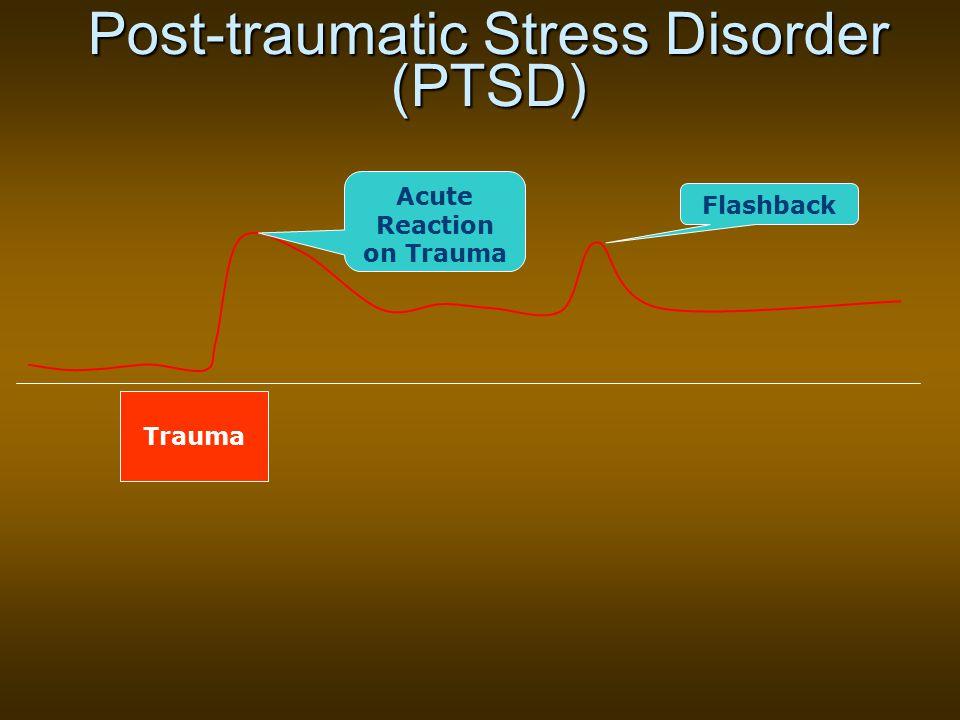 Post-traumatic Stress Disorder (PTSD) Acute Reaction on Trauma Flashback Trauma