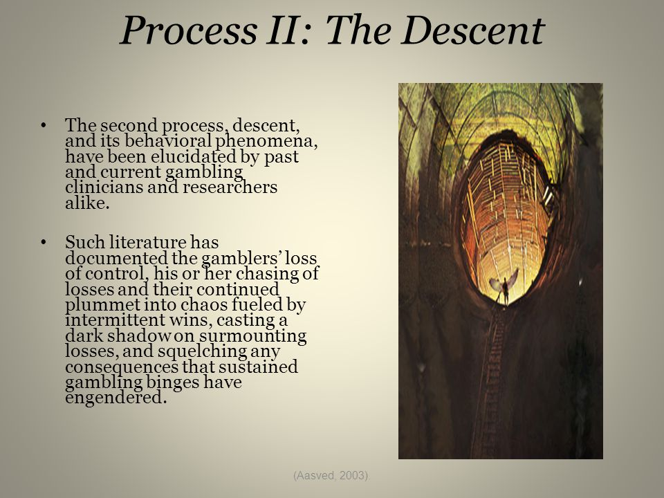 A Journey Perspective This journey destructive as it may be, can potentially lead the disordered gambler to confront the symptoms underneath their gambling, bringing the possibility of wholeness with it.