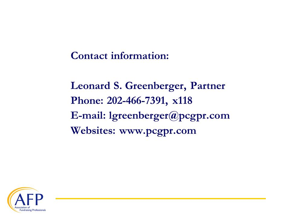 Contact information: Leonard S.