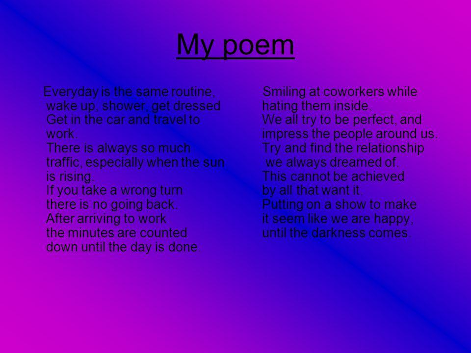 Explanation of my poem My poem imitates Larkin by telling a story with a gloomy twist.