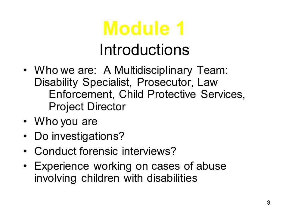 MODULE 8 The Forensic Interview Pre-interview Considerations 164 LE & CPS