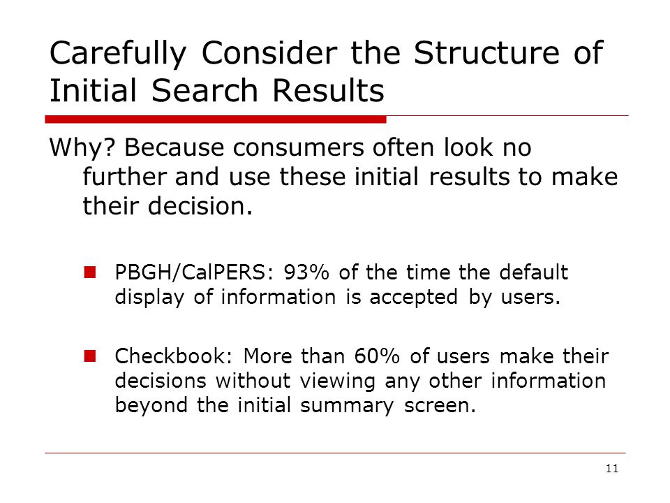 11 Carefully Consider the Structure of Initial Search Results Why.