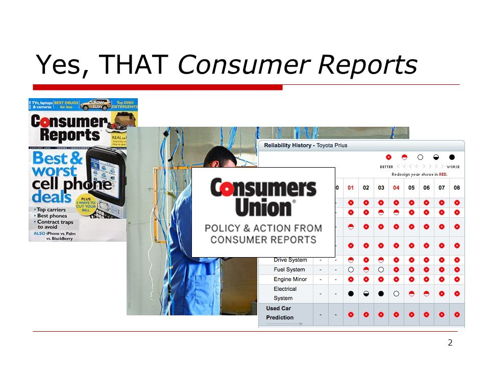 2 Yes, THAT Consumer Reports