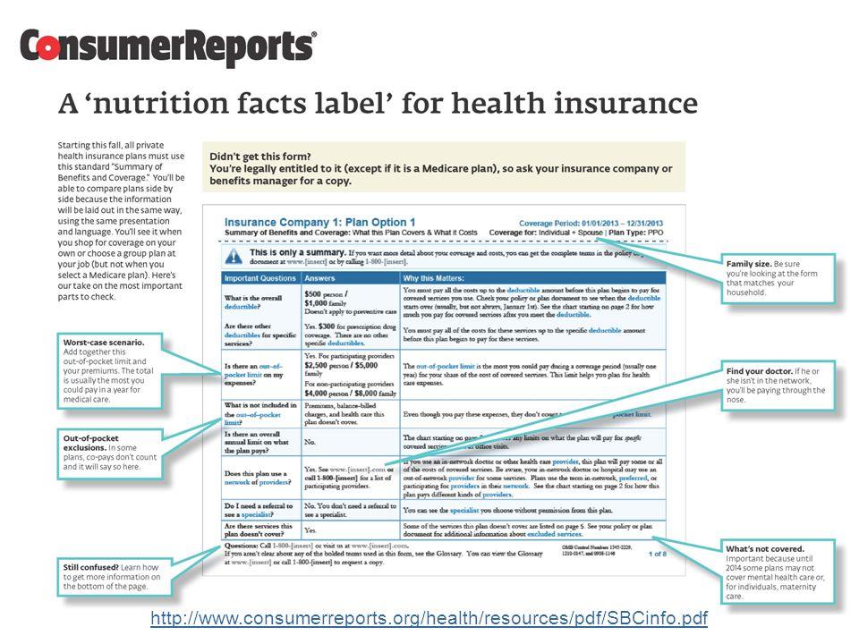 23 http://www.consumerreports.org/health/resources/pdf/SBCinfo.pdf