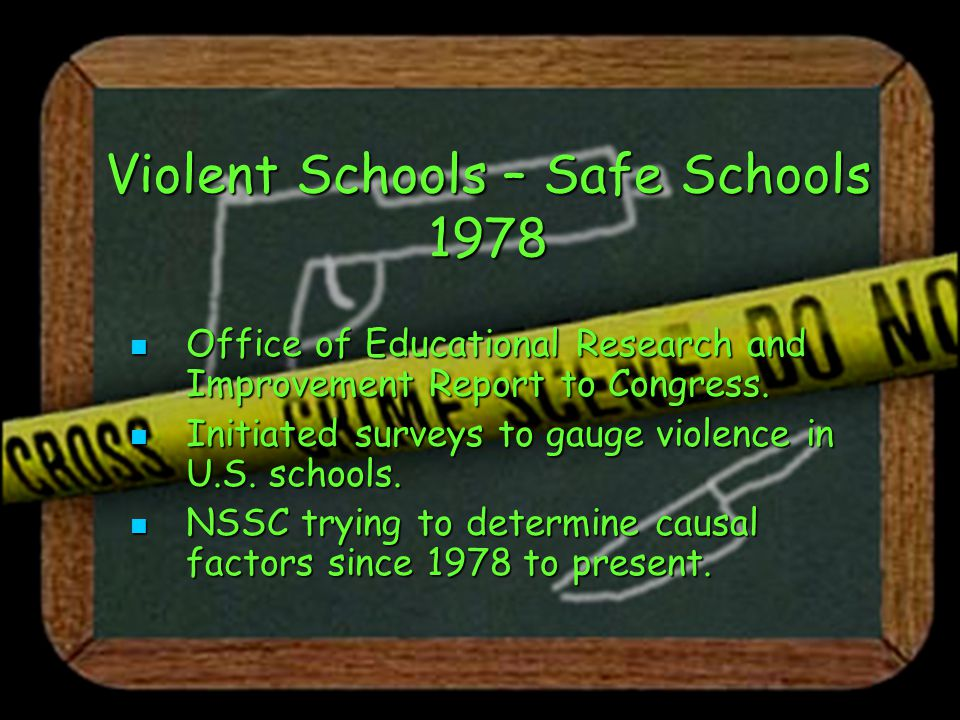 Gun Free Schools Act 1994 All 50 states reported that from 1997-1999, they expelled a total of nearly 8000 students for bringing a firearm to school.