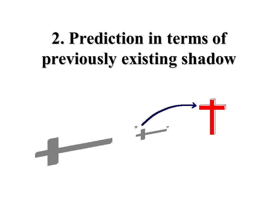 2. Prediction in terms of previously existing shadow