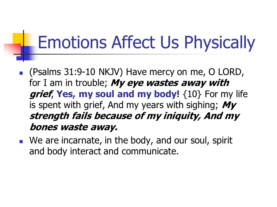Biblical EQ www.aibi.ph/beq/ © Copyright, John Edmiston 2001 A Christian Handbook For Emotional Transformation Part 7 – Emotions & Our Physiology