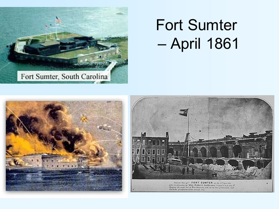 Fort Sumter – April 1861