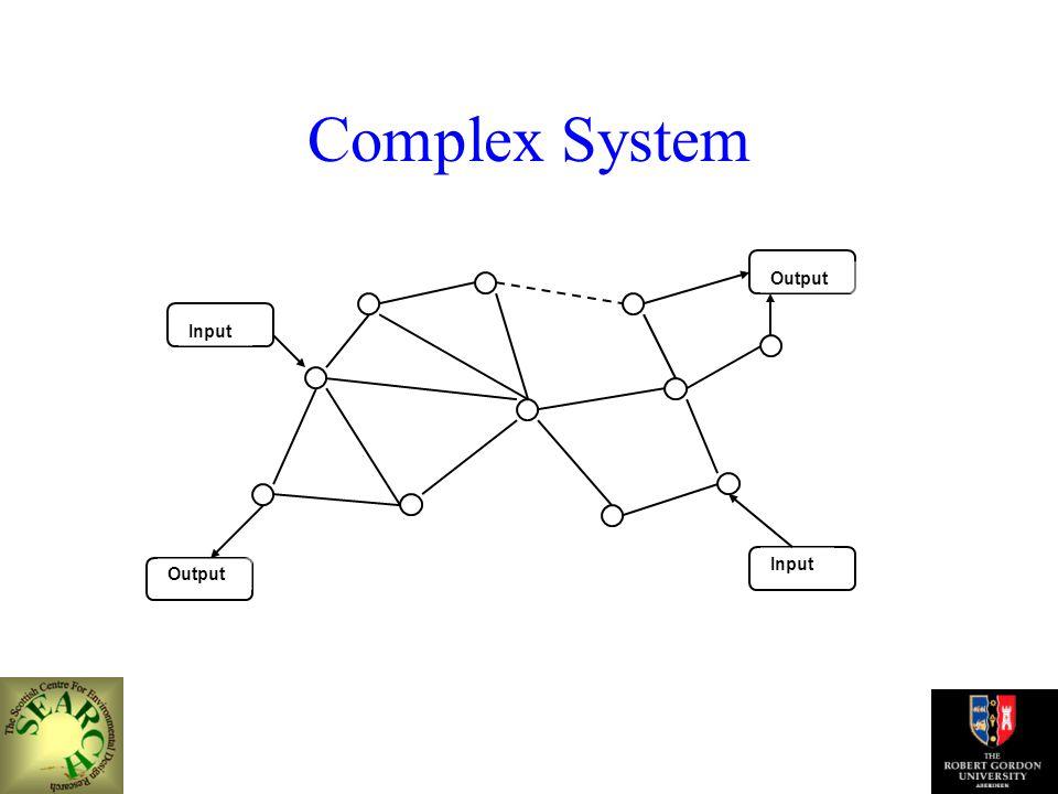 Complex System Input Output Input Output