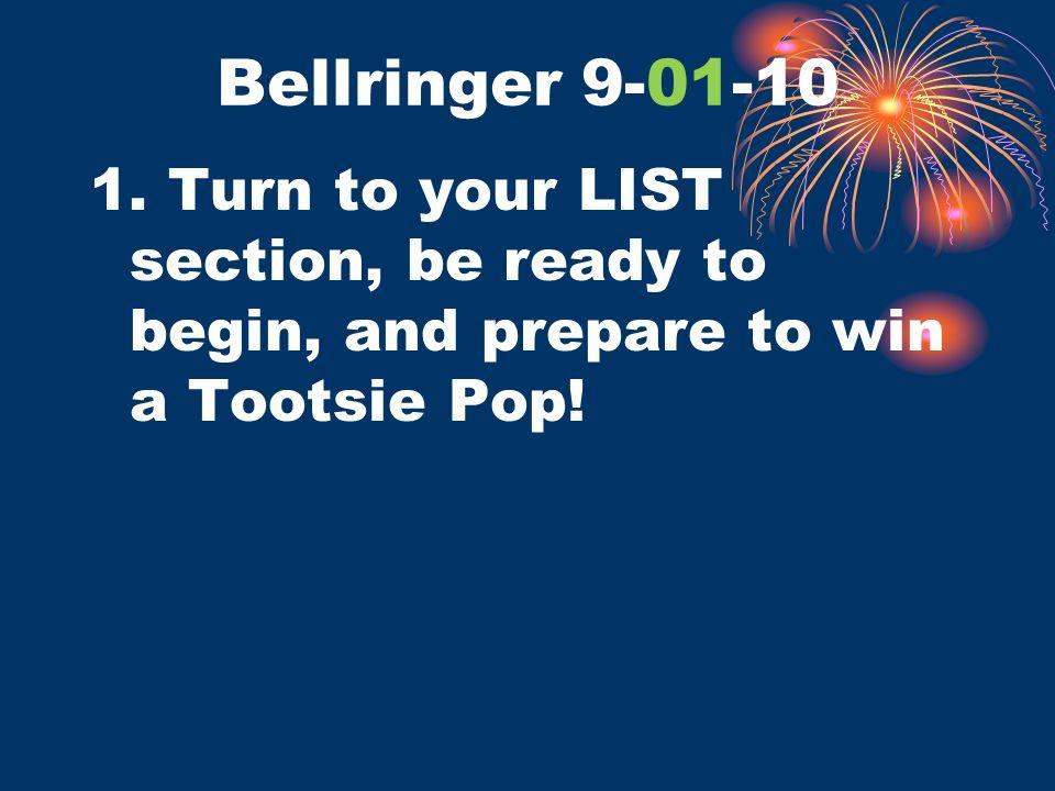 Bellringer 9-01-10 1.