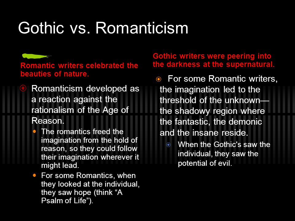 Gothic Movement in America The Gothic Tradition was firmly established in Europe before American writers had made names for themselves.