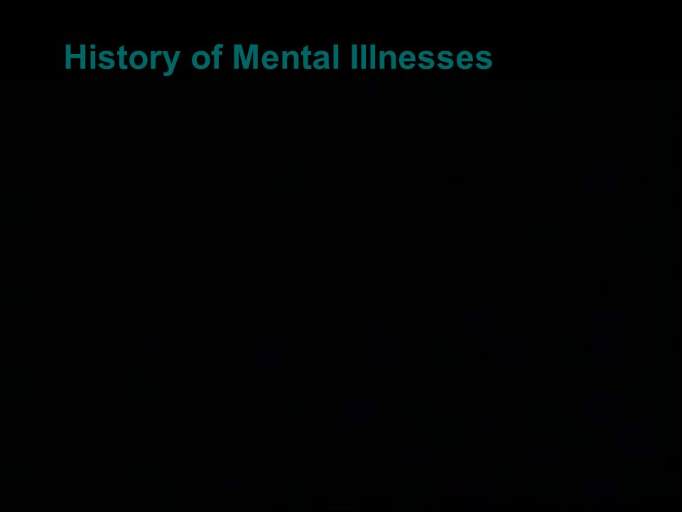 History of Mental Illnesses