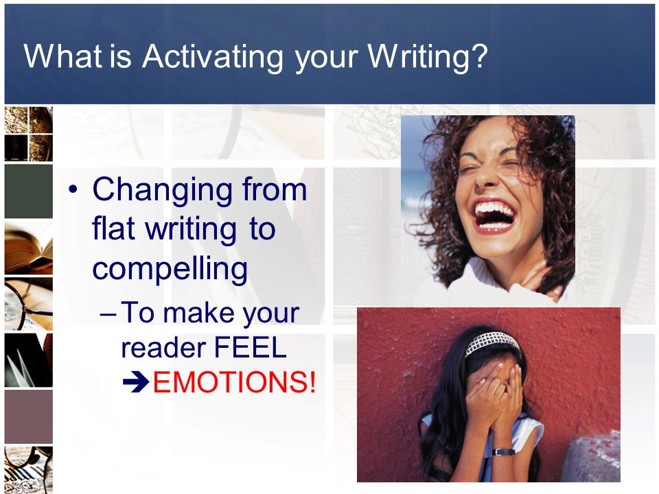What is Activating your Writing.