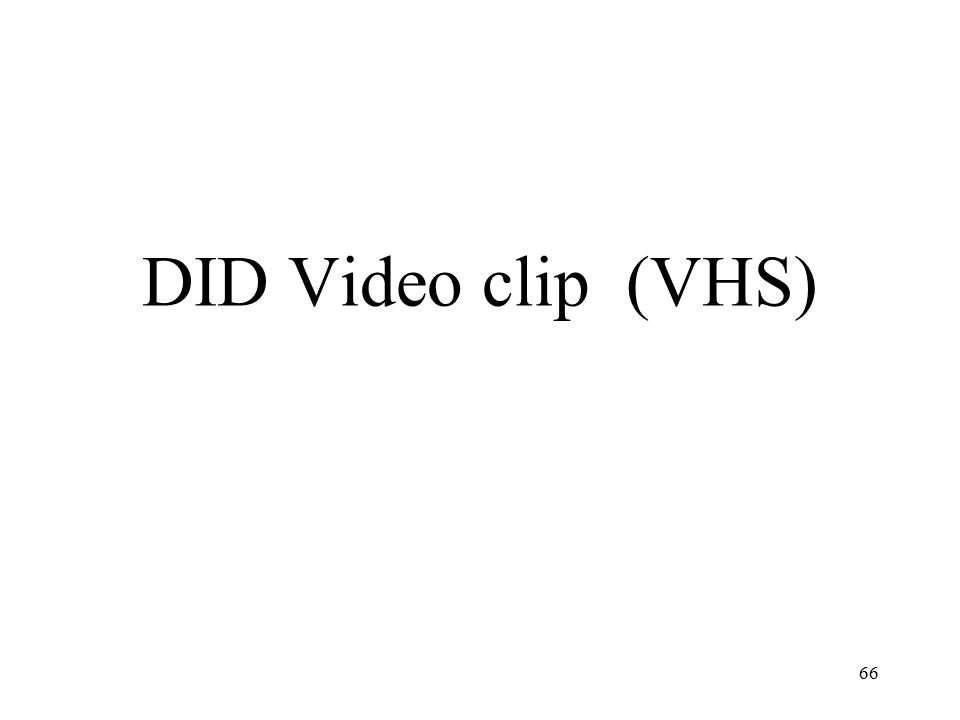 DID Video clip (VHS) 66