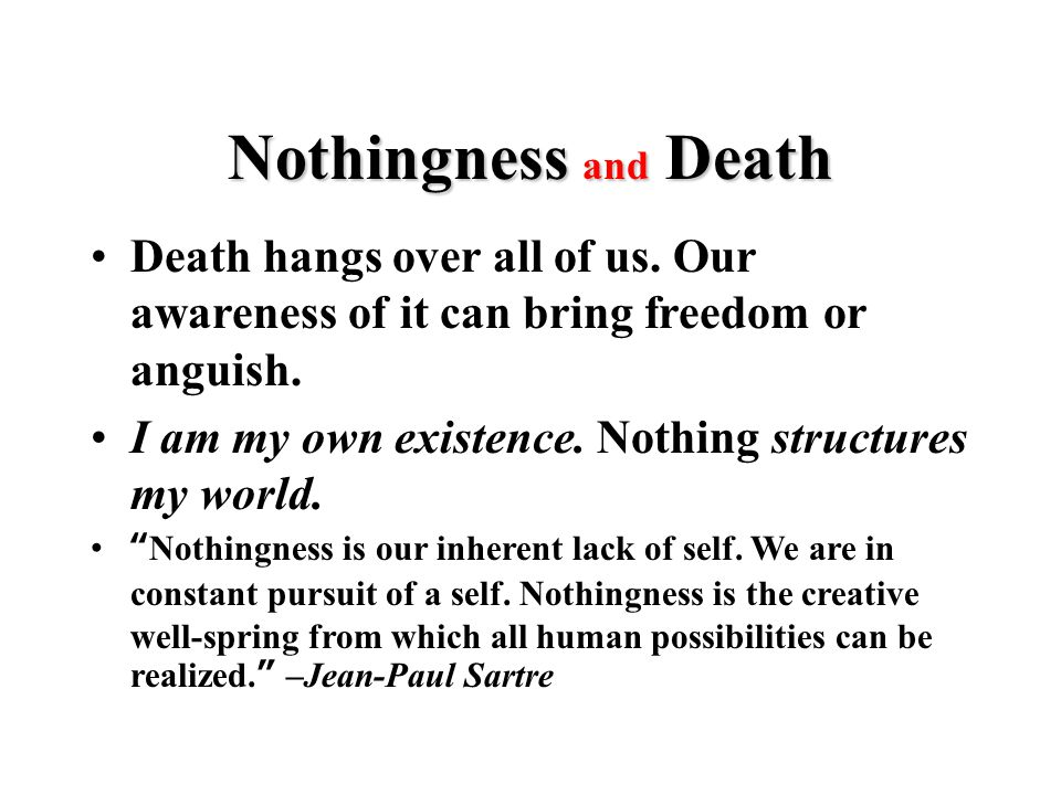 Death hangs over all of us. Our awareness of it can bring freedom or anguish.